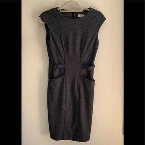 Calvin Klein Sleeveless Charcoal Dress